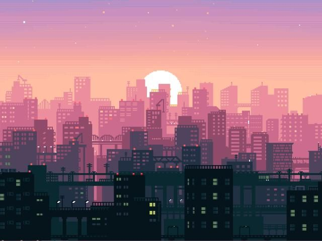 City Building Sunshine Pixel Art Wallpaper Hd Artist 4k Wallpapers Images Photos And Background Desktop Wallpaper Art City Wallpaper Retina Wallpaper