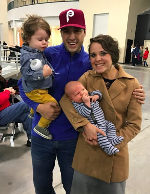Jeremy and Jinger Vuolo with the Duggar family for Spring Break 2017.