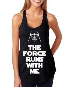 I WILL BUY THIS SHIRT!!!!!! Ladies Star Wars The Force Runs With Me by BehindTheMouse on Etsy, $21.99