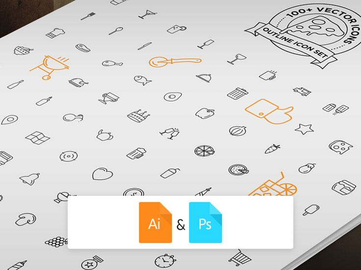 Pizza Icons Set: 100+ fully adjustable icons | http://www.bestpsdfreebies.com/