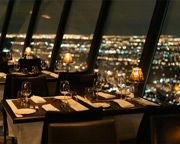 All tables overlooked the city and took 72 minutes to make a full 360 degree revolution.