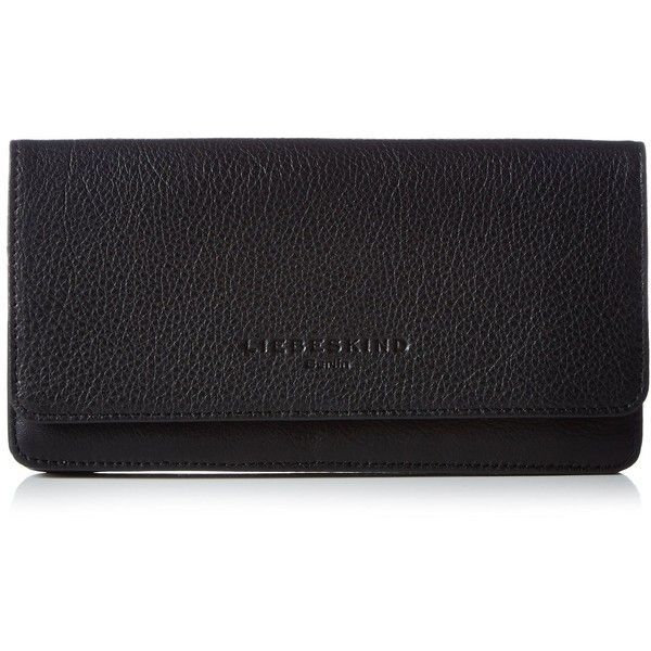 Liebeskind Berlin Slamc Wallet, Black, One Size ($106) ❤ liked on Polyvore featuring bags, wallets, black bag, black wallet, liebeskind bags and liebeskind