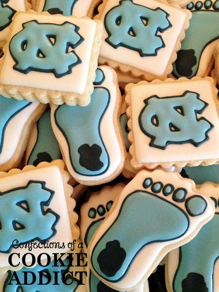 UNC Tar Heel Cookies