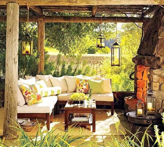 Best 25+ Rustic Outdoor Spaces Ideas On Pinterest