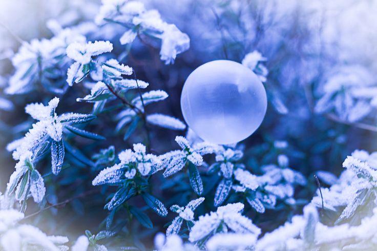 Seifenblasen im Winter zu fotografieren ist gerade Trend - sie sehen wunderschön aus und es macht auch noch Spaß! Mache auch du Seifenblasenfotos!