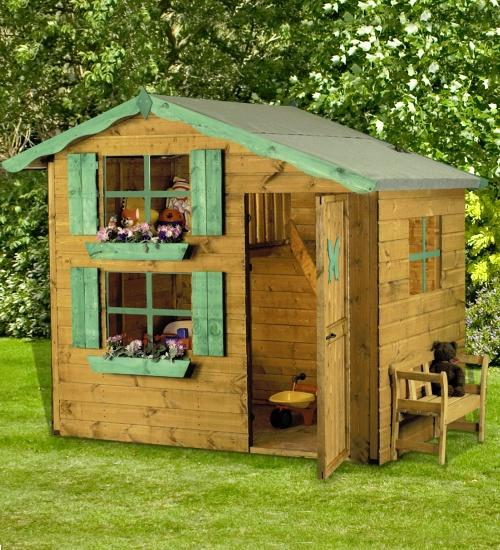 wood playhouse   Wooden Playhouse 2 Storey photos