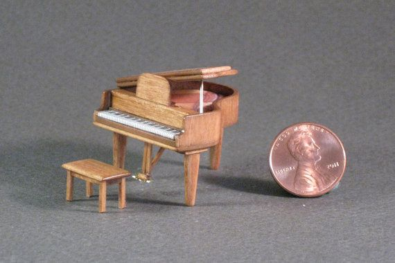 Quarter Inch Scale Furniture - Baby Grand by the amazing miniature artisan Samantha Murray! MurrSamanthaCreations, $65.00