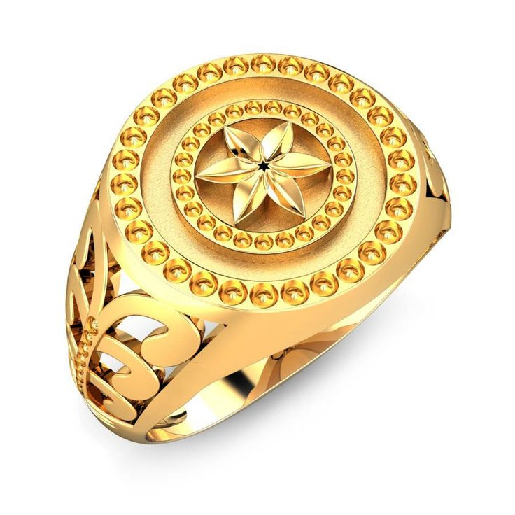 jl yellow leo solid zodiac mens cz jewelry ring gold image