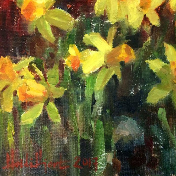"""Daffodils"" by Finnish Artist Heidi Hjort, 2017 (heidihjort.com) Shabby Chic Decor, Kitchen Decor, Spring, Yellow, Easter Decor, Livingroom Decor, Bedroom Decor, Vintage Style Decor, Rustic, Country House Decor"