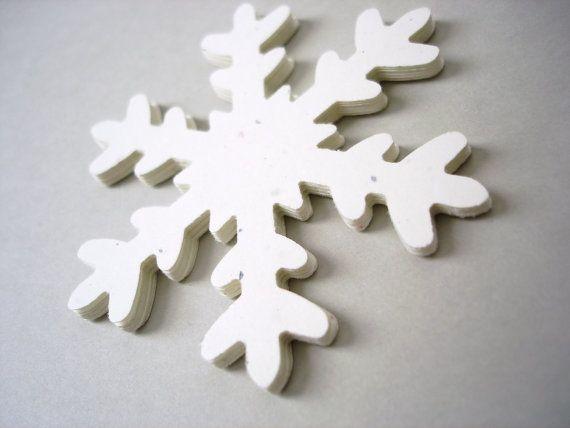 10 Extra Large Stardust White Snowflake Die Cut by BelowBlink, $2.00
