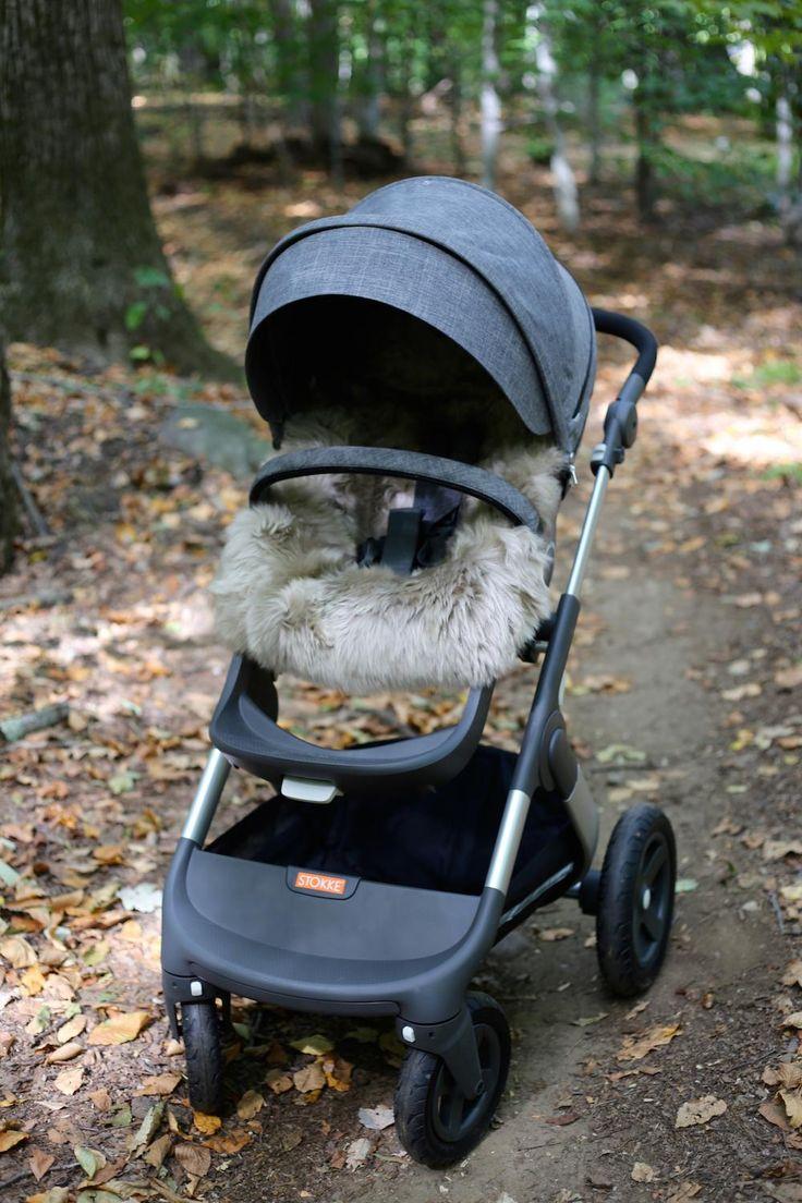 Cozy sheepskin softness for baby this season. Stokke Sheepskin Stroller Liner