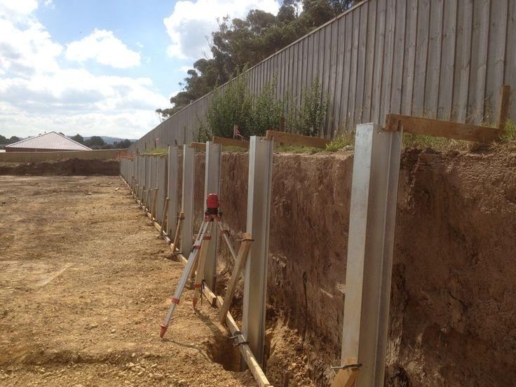 Steel Retaining Structures : Metal retaining walls steel post