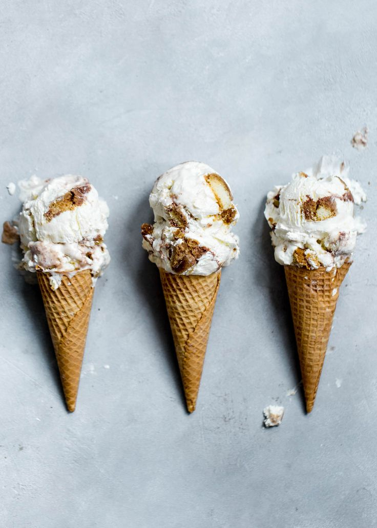 Tiramisu Ice Cream: a mascarpone ice cream with coffee-soaked ladyfingers and fudge swirl!