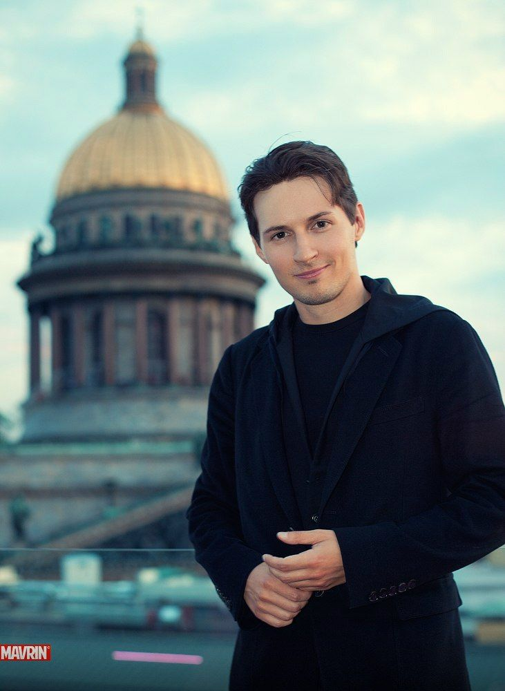 Pavel Durov inventor of Telegram (secure  messenger)  and Vkontakte (Russian Facebook),