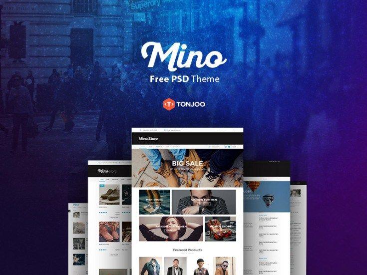 Mino : Free PSD Blog Template - Free Download | Freebiesjedi