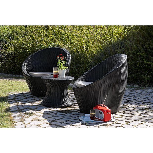 Buy HOME Rattan Effect 2 Seater Duck Egg Patio Set with Cushions at Argos.co.uk - Your Online Shop for Garden table and chair sets, Garden furniture, Home and garden.