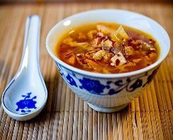 HCG Diet Phase 1 Cabbage Soup    2 32 oz. cartons of  Swanson Organic Chicken Broth  2 14.5 oz. cans of low  sodium diced/stewed tomatoes  6 mediums stalks of celery  1 medium onion, chopped  1/2 head cabbage, chopped red or green  1 teaspoon garlic powder  black pepper to taste