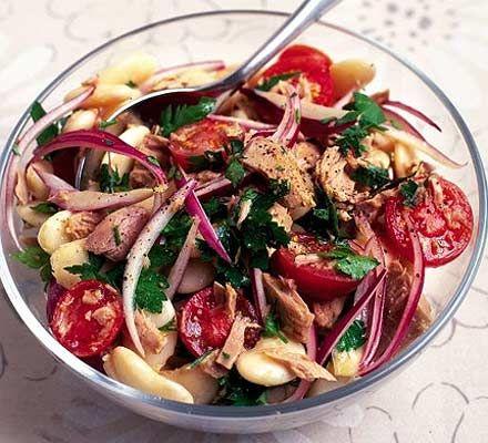 Tuna & butterbean salad recipe - Recipes - BBC Good Food