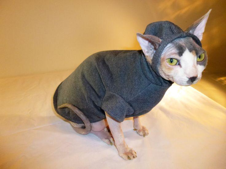 Cat Clothes Sphynx Hoodie, Urban Ears Gray. $24.00, via ...
