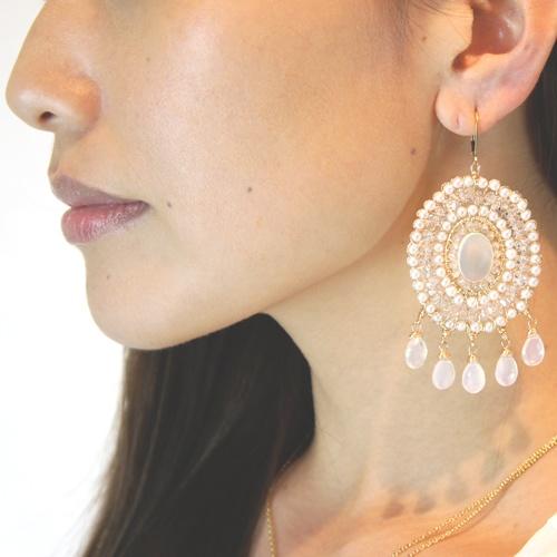 silky quartz earrings: Suga Rita, Silky Quartz, Quartz Earrings