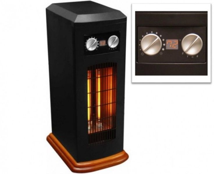 Infrared Space Heater Electric Quartz Tower Digital Thermostat Auto Shutoff 1500 #PerfectHomeSavings