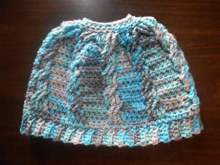 Cabled Messy Bun Beanie **Free Pattern** — High Strung Crochet