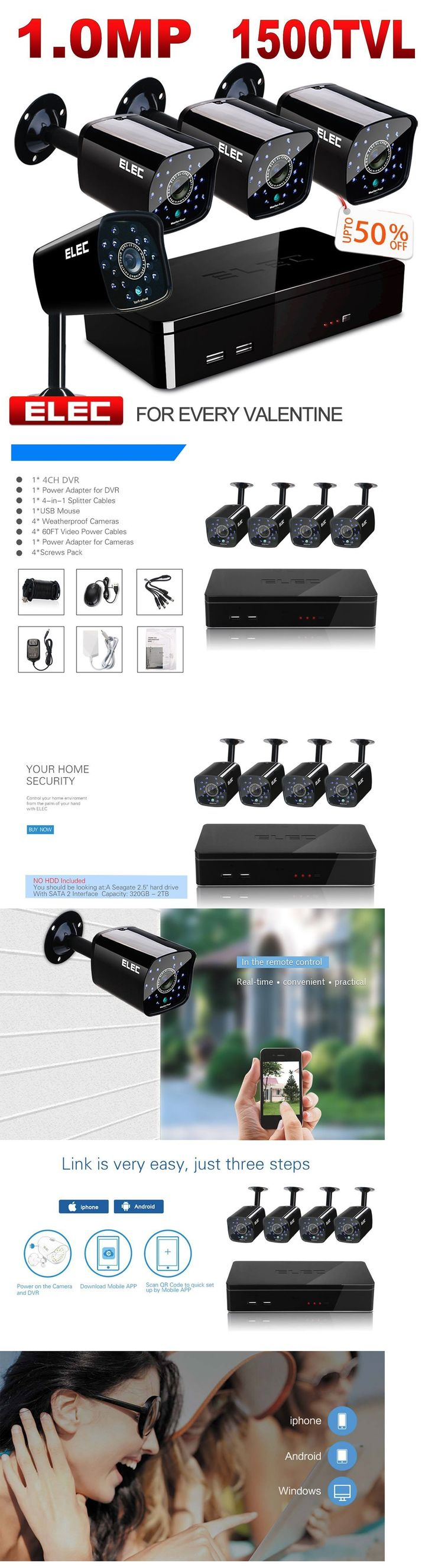 Surveillance Security Systems: Elec 8Ch Channel 960H Hdmi Dvr Hd 1500Tvl Video Home Cctv Security Camera System -> BUY IT NOW ONLY: $66.69 on eBay!