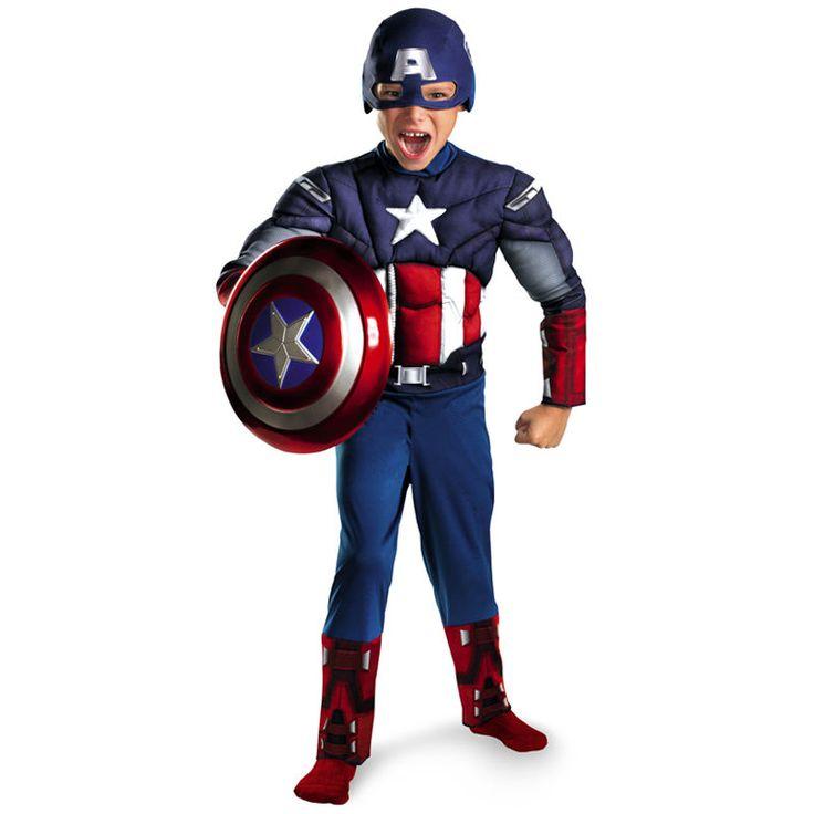 Marvel Comics Avengers Kids Captain America Superheroes Fancy Dress Outfit fd12