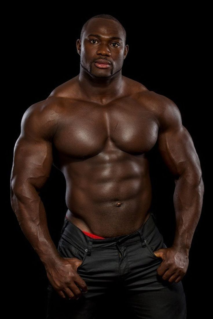 Hot black muscle men have faced