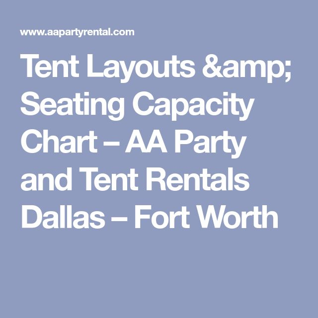 Tent Layouts & Seating Capacity Chart – AA Party and Tent Rentals Dallas – Fort Worth