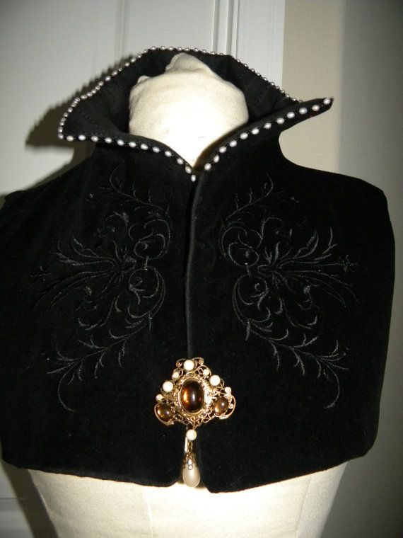 Ladies Renaissance Over-Partlet - Without Pearls