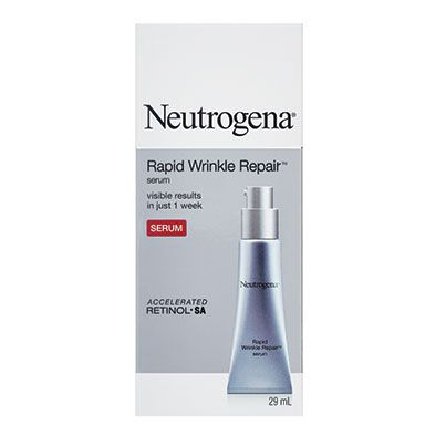 Neutrogena® Rapid Wrinkle Repair™ Serum THE SCOOP: Laugh off fine lines, crow's feet and under-eye bags with the wrinklereducing benefits of accelerated retinol SA. Lines appear visibly diminished in just one week!
