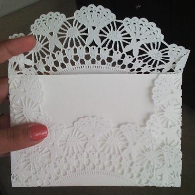 Doily envelope even rectangular
