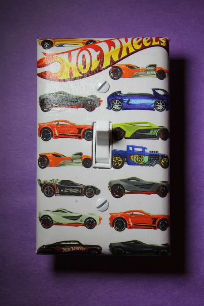 Hot Wheels Cars Light Switch Cover Plate boys kids child room home decor