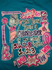 Southern Chics Funny Cheerleader Sweet Girlie Bright T Shirt   SimplyCuteTees