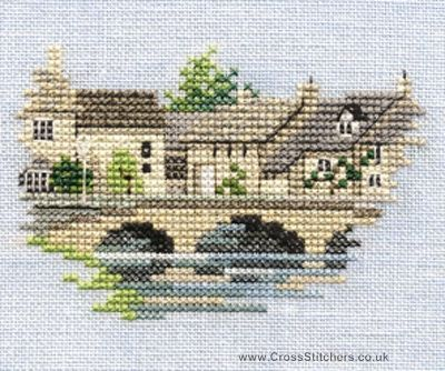 Bourton on the Water - Minuets - Cross Stitch Kit from Derwentwater Designs