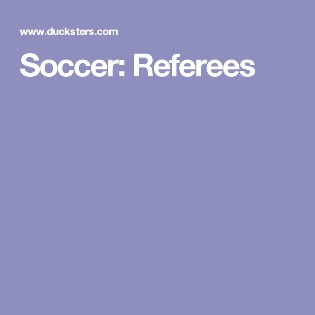 Soccer: Referees