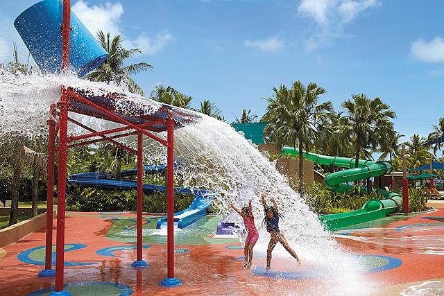 Kids play at the water park. Tanjung Aru Resort and Spa