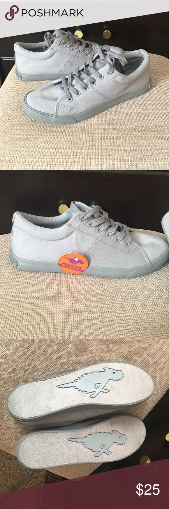 •Gray Canvas Sneaker• Rocket dog brand! Brand new with tags, just tried on. Bought from DSW. Solid gray. Rocket Dog Shoes Sneakers