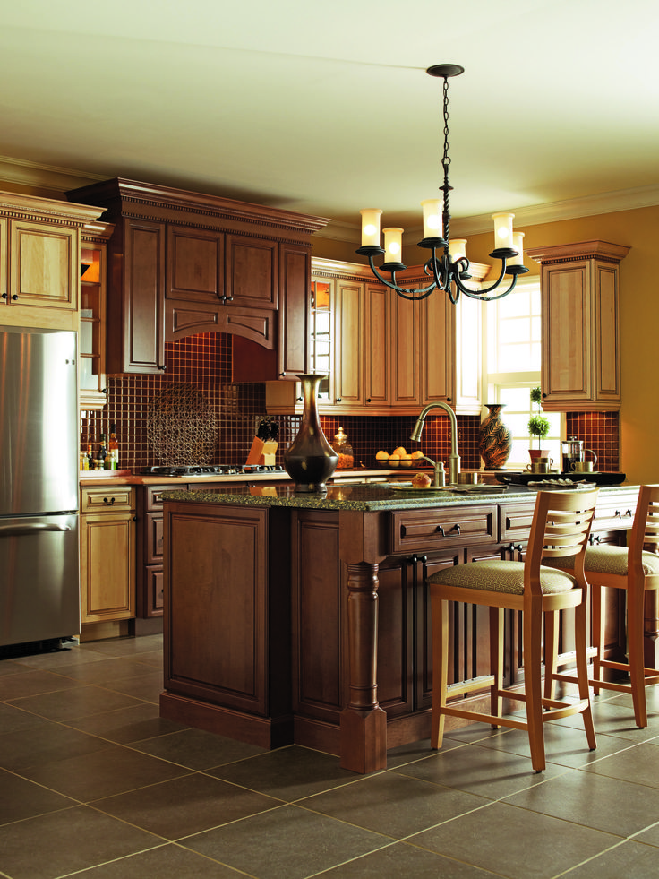 wooden thomasville cabinets kitche design | Traditional Kitchen from Thomasville Classic #Fallidays # ...