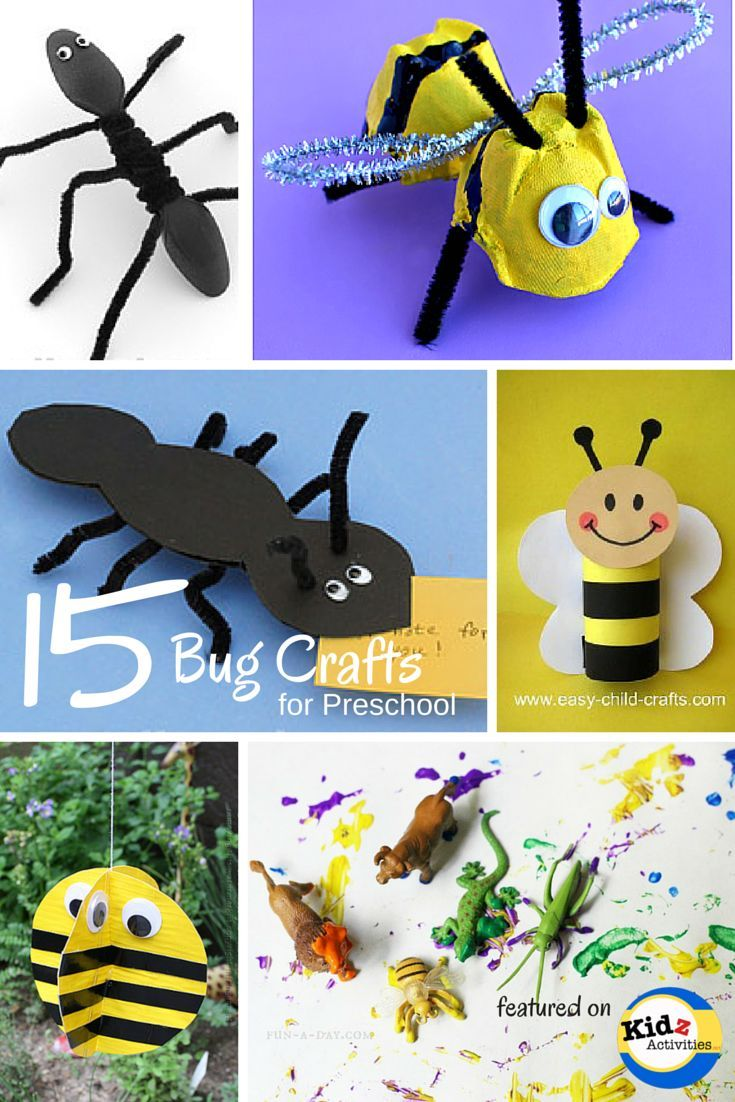 Bug Crafts for Preschool: Bees, Ants, Crickets