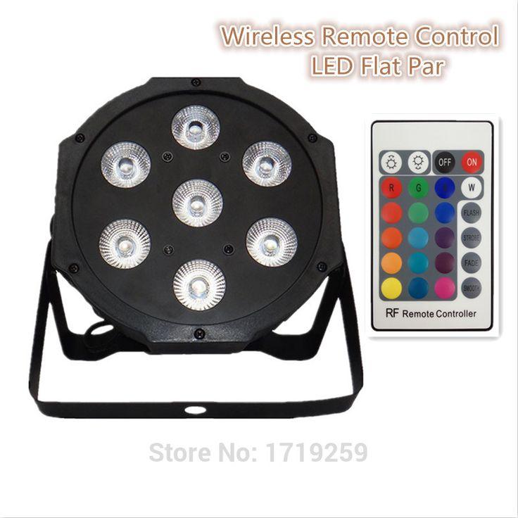 Wireless remote control 2017 7x9 w rgb dmx led datar par lampu daya tinggi dengan profesional untuk partai ktv disco dj