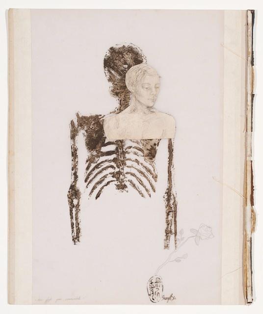 Shany van den Berg's books and skeletons