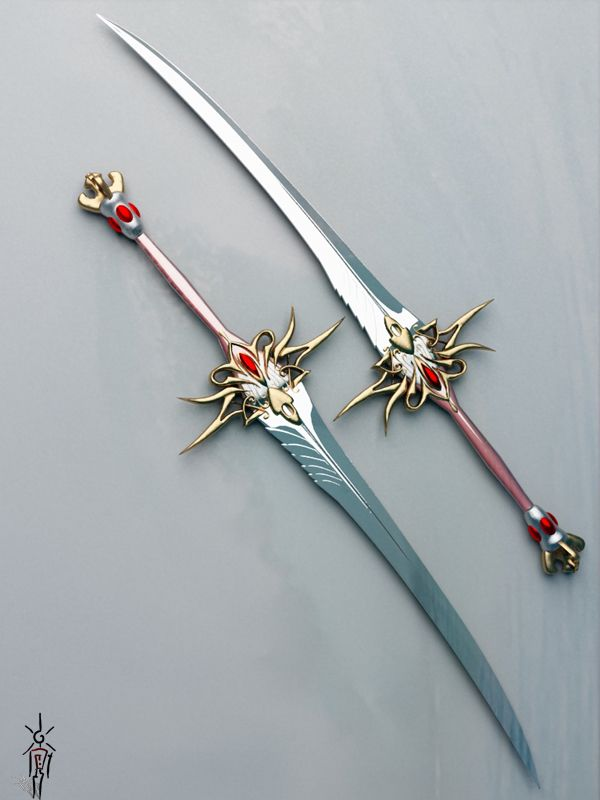 Dual Blade Katana | HI!!! Can anyone create these babies? They look amazing! I hope ...
