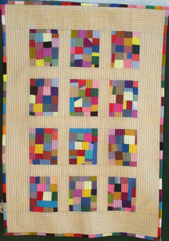 Modern Baby quilt free postage to by HandMadeQuiltsbyJane on Etsy