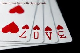 Impress your friends by telling their fortunes with a deck of regular playing cards. #tarot