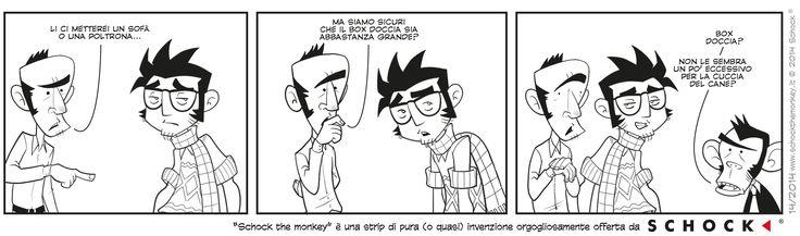 Una doccia in salotto?!? | Schock The Monkey  #fumetto #design #creatività #scimmia