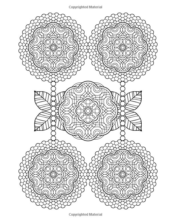 Flower Designs Coloring Book An Adult For Stress Relief