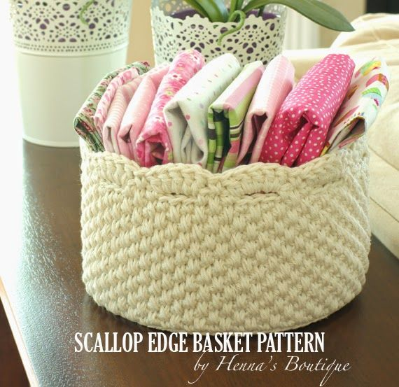 Scallop edge basket pattern $5.00 Buy directly from my blog!