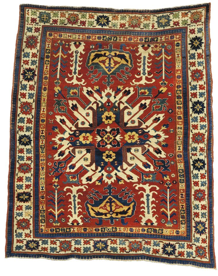 An Eagle Kazak Rug Southwest Caucasus Roximately 5ft 10in By 4ft 9in